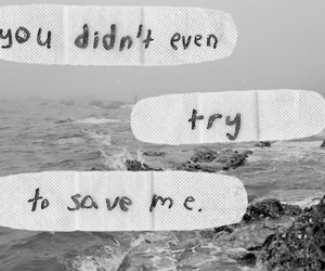 quote, save, and black and white image