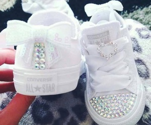 baby, white, and converse image