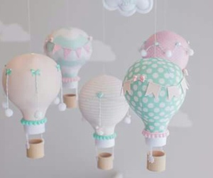 balloons, pastel colors, and room decoration image
