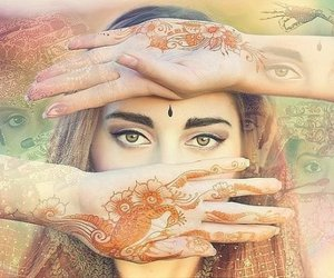 beauty, bindis, and face image