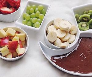 food, fruit, and chocolate image