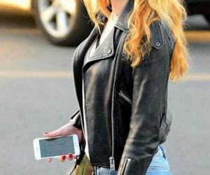 girl, glasses, and jacket image