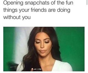 funny, kim kardashian, and snapchat image