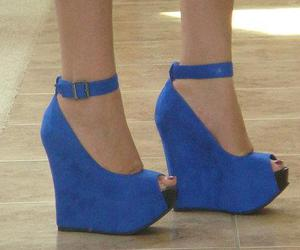 shoes, wedges, and blue image