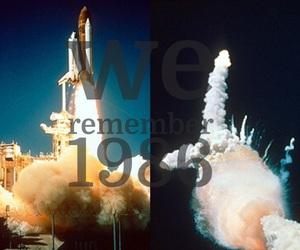 1986, nasa, and tragic image