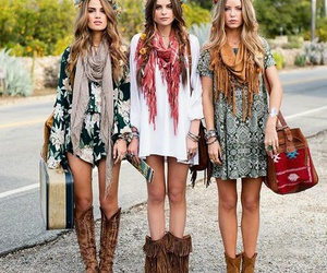 best friends, bohemian, and boho image