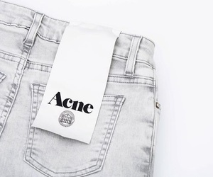 acne, grey, and jeans image