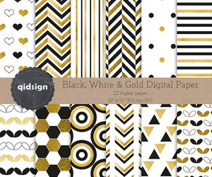 etsy, instant download, and gold digital paper image