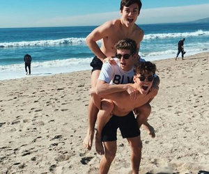 grayson dolan, ethan dolan, and beach image