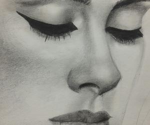 Adele, drawing, and sad image