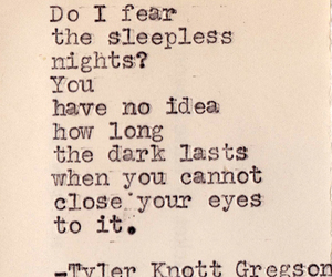 night, dark, and sleepless image