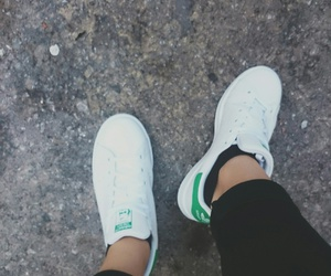 green, white, and stan smith image