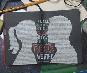 bibliophile, book, and kiss image