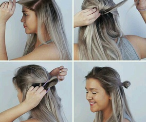 cabelos, hairstyle, and penteados image