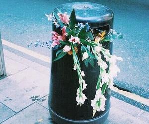 flowers, indie, and trash image