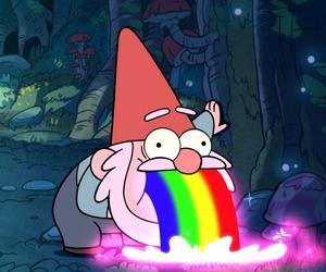 rainbow and gravity falls image