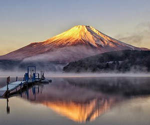 fuji, japan, and lake image