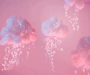 pink, clouds, and pastel image
