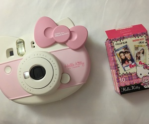 camera, girl, and hello kitty image