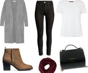 cardigans, pants, and simple image