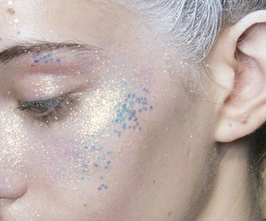 glitter, makeup, and white image