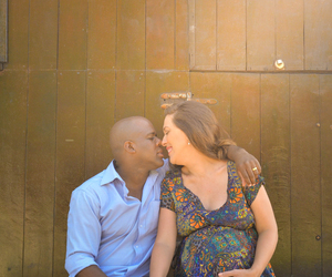 couple, pregnancy, and love image