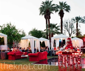 wedding and outdoor modern reception image