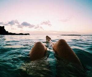 summer, legs, and beach image
