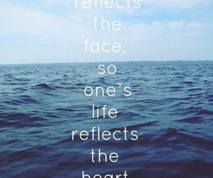 life, heart, and reflection image
