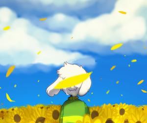 ending, flower, and asriel image