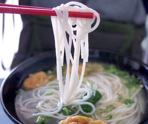 noodles, soup, and chinese food image
