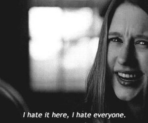 american horror story, violet, and hate image
