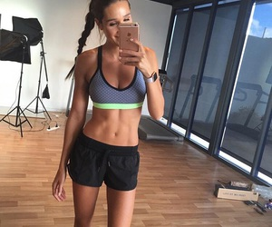 abs, beautiful, and girl image