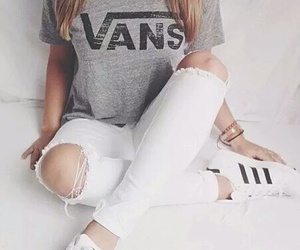 adidas, vans, and white image