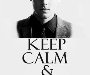 glee, keep calm, and cory monteith image