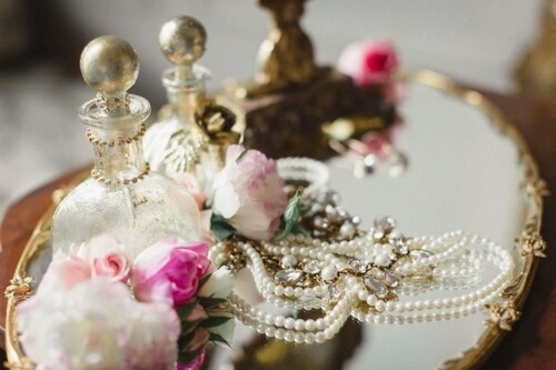 girly, cute, and pearls image