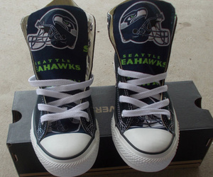 converse, football, and seattle seahawks image