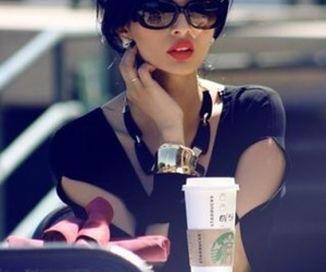 starbucks, sunglasses, and beauty image