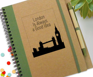 etsy, spiral notebook, and travel journal image