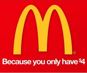 funny and McDonalds image