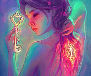 key, art, and destinyblue image