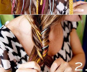 braid, colorful, and inspiration image