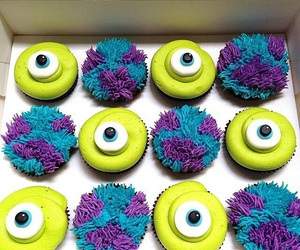 cupcake, food, and monster inc image