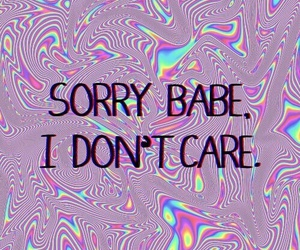 babe, sorry, and quotes image