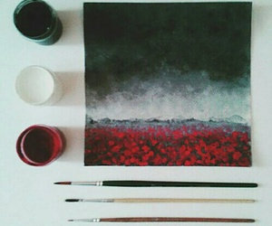 art, red, and painting image
