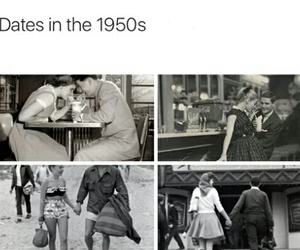date, love, and 1950s image