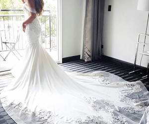 dress, blanco, and boda image
