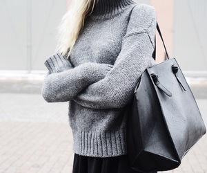 bag, fashion, and sweater image