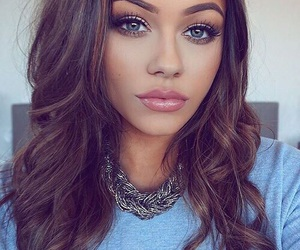 beauty, brow, and brown hair image