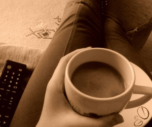caffe, relaxing, and tv image